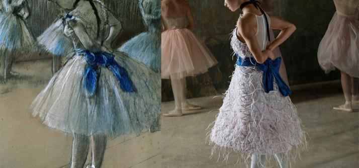 Bailarina reproduz obras de Degas