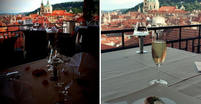 2 restaurantes em Praga com vistas incríveis