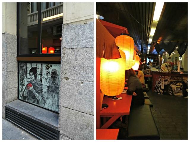 taberna japonesa em Madri