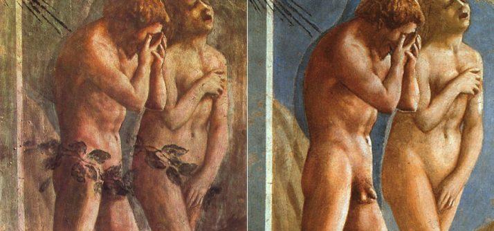 A expressividade dos personagens de Masaccio ( e outros Adão e Eva)