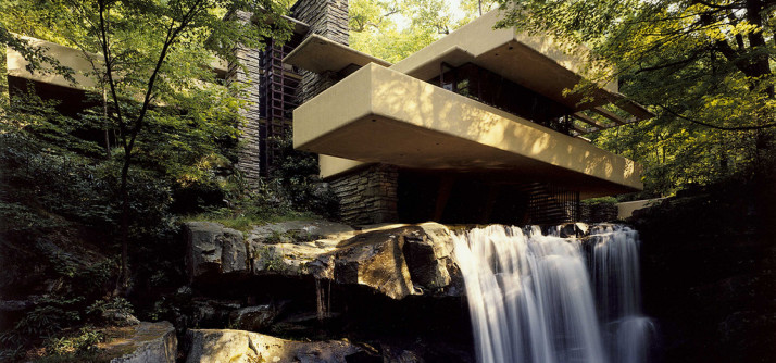 Fallingwater ou a Casa da Cascata de Frank Lloyd Wright